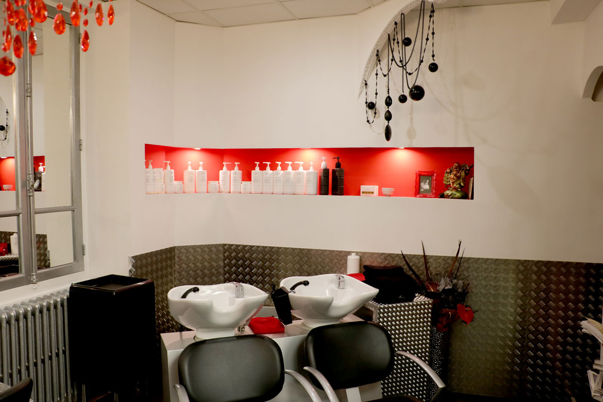 Coin shampoing du salon de coiffure Toulousain